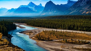 Forest Landscape Mountain Nature River Scenic 2048x1346 Wallpaper