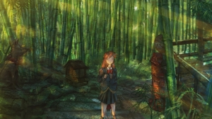 Bamboo Girl 1920x1440 Wallpaper