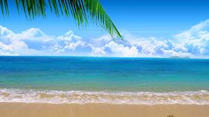 Beach Cloud Heart Horizon Nature Palm Tree Sand Sea 3000x2250 Wallpaper
