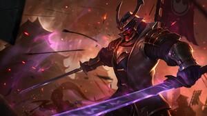 League Of Legends Shen League Of Legends PC Gaming Video Game Warriors Video Games Fantasy Art Samur 1920x1080 Wallpaper