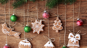 Christmas Christmas Ornaments Cookie Gingerbread Holiday 7224x6000 Wallpaper