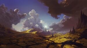 Artwork Nature Fantasy Art Landscape Clouds 1920x1080 wallpaper