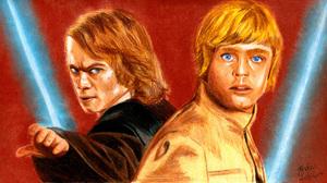 Anakin Skywalker Luke Skywalker 3441x1919 Wallpaper