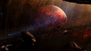 Asteroid Planet Space 1920x1005 wallpaper