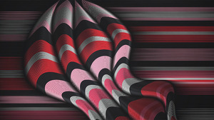 Design Lines Pink Red Shapes 2414x1280 Wallpaper