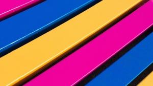 Blue Colors Pink Stripes Yellow 2048x1192 Wallpaper