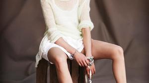 Astrid Berges Frisbey Women Model Brunette French Women Legs Women Indoors 982x1300 Wallpaper