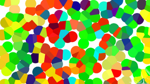 Abstract Blue Circle Colorful Colors Digital Art Geometry Green Red Shapes White Yellow Orange Color 1920x1080 Wallpaper