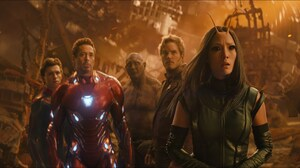 Spider Man Iron Man Tony Stark Drax The Destroyer Star Lord Mantis Marvel Comics Tom Holland Robert  2048x1080 Wallpaper