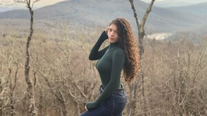 Women Outdoors Curly Hair Brittany Venti 2048x1536 wallpaper